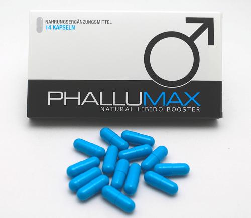 Phallumax Pillen und Verpackung
