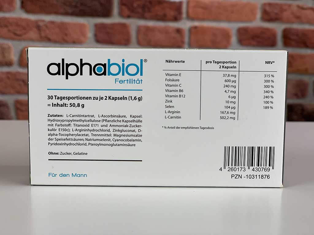 Originalverpackung Potenzmittel Alphabiol Rückseite